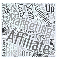 Affiliate marketing tips on how to spot a scam vector