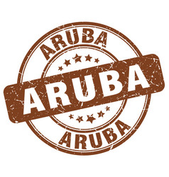 Aruba stamp vector
