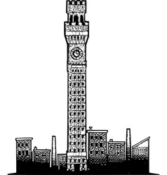Baltimore Tower vector image
