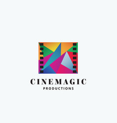 cinema magic abstract sign emblem or logo vector image vector image