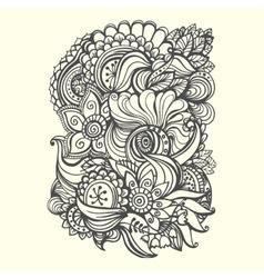 doodle background vector image