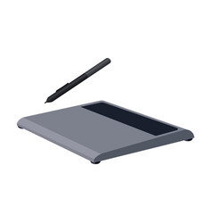 drawing tablet icon in cartoon style isolated on vector image vector image
