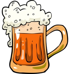 Foamy mug of beer vector