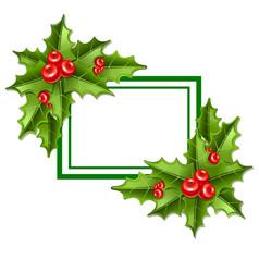 frame christmas mistletoe 10eps vector image vector image