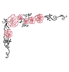 garland with red roses vector image