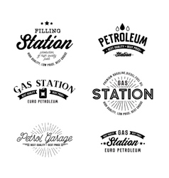 Gas station set vector