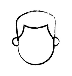 Head man male person sketch vector