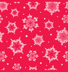 Holiday vibrant red hand drawn christmass vector