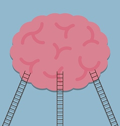 ladder to brain idea vector image