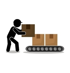 man package and delivery design vector image vector image