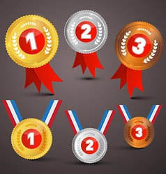 Medals awards set vector
