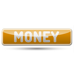 Money - glossy banner with shadow vector