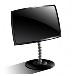 monitor black vector image