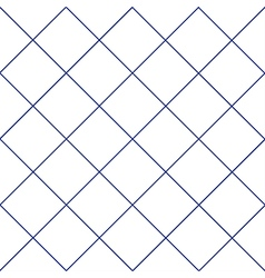 Navy Blue Grid White Diamond Background vector image