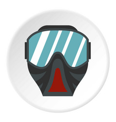 paintball mask icon circle vector image vector image