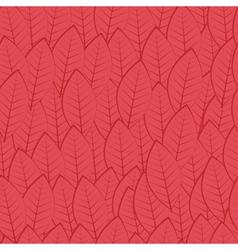 Pattern of leaves burgundy vector