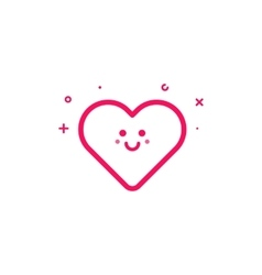Pink icon in flat line vector