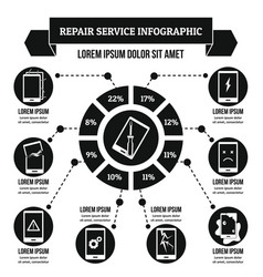 Repair service infographic concept simple style vector