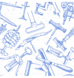 Seamless pattern with different corkscrews vector