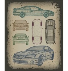 Set car is designed vector image vector image