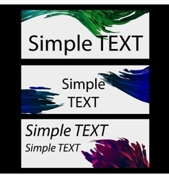Set of generic banners vector image vector image