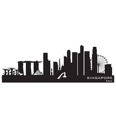 Singapore skyline Detailed silhouette vector image vector image