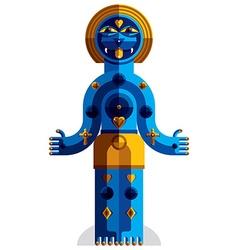 Spiritual totem meditation theme drawing a vector