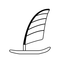 surfboard with sailing icon vector image