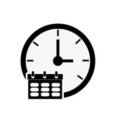 Clock time icon design vector