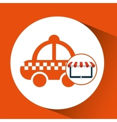 E-commerce virtual taxi service icon vector