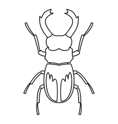 Rhinoceros beetle icon outline style vector