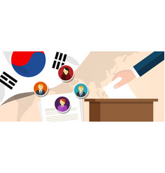 south korea democracy political process selecting vector image