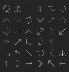 Set of linear arrow vector