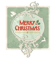 Merry christmas retro sign vector
