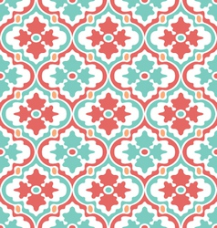 Retro modern floral damask vector