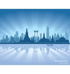 Bangkok thailand city skyline silhouette vector