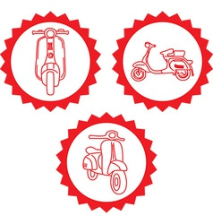 Motorbike design elements vector