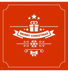Red christmas greeting card background vector