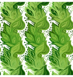 Spring leaves seamless pattern vector