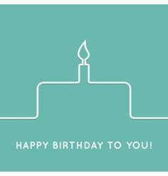 Happy birthday retro postcard with cake icon vector image