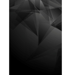 Dark black low poly tech design vector image