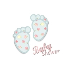 Baby shower card design vector
