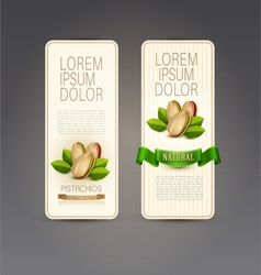 set of labels with pistachios vector image