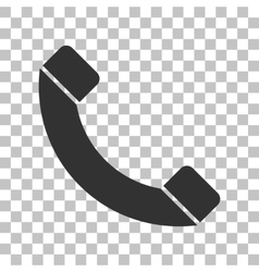 Phone sign  dark gray icon on vector