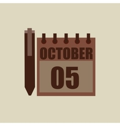 Calendar pen pointer agend vector