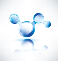 abstract water shape vector image vector image