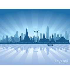 Bangkok Thailand city skyline silhouette vector image vector image