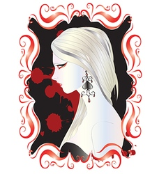 Beautiful vampire woman vector image vector image