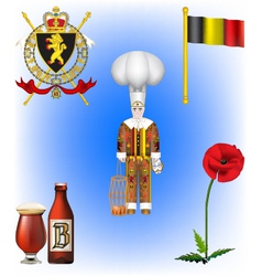 Belgium collection vector