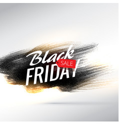 Black friday sale background with grungy paint vector